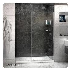 """DreamLine Linea Frameless Shower Door 34""""x72"""" Open Entry Design"""