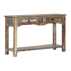 VidaXL Console Table 47.2-inch  Solid Reclaimed Wood Side Hall Stand Storage Home