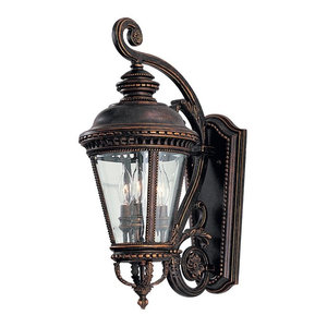 Feiss Lighting OL1901GBZ Castle Outdoor Wall Light, Grecian Bronze