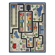 """Kid Essentials Rug, Tiny Town, 5'4""""x7'8"""", Pewter"""