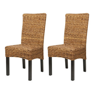 vidaXL Dining Chairs, Brown, Set of 2