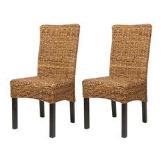 vidaXL Dining Chairs, Brown, Set of 2