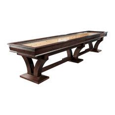 Columbia River Shuffleboard Table by Playcraft, Espresso, 12'