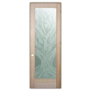 Interior Glass Door Sans Soucie Art Glass Oak Tree 2D Private