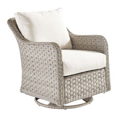 South Sea Rattan Mayfair Outdoor Swivel Glider, Pebble 77805