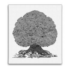 History Tree of American Rock Music Canvas Print