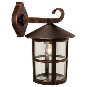 Stratford Hanging Lantern Outdoor Wall Light, Bronze