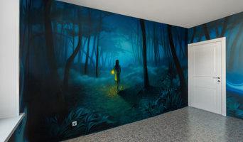 Роспись стен в частном интерьере