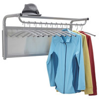 Impromptu Coat Wall Rack With Hangers Gray