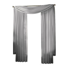 Sheer Voile Window Drape, Silver-Gray