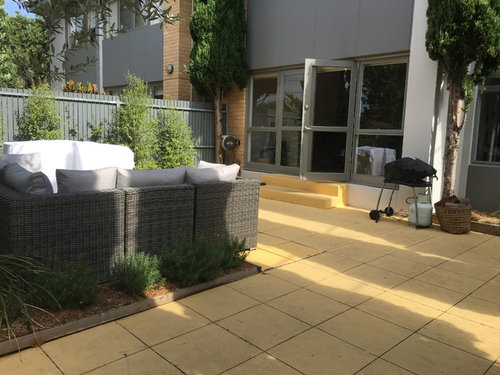 Perfect What Colour Should I Paint These Pavers .. Or Any Other Ideas For Making  This Area Pretty/funky Living Area ?
