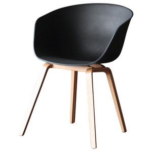 Portobello Tub Dining Chair, Black