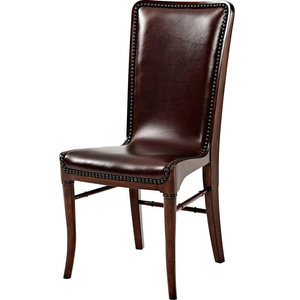 Theodore Alexander Leather Sling Dining Chair #485DC - Set of 2
