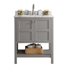 Vinnova - Florence Single Vanity, Gray, Without Mirror, 30