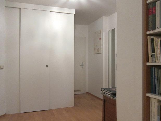 vorher nachher trotz sieben t ren viel stauraum im flur. Black Bedroom Furniture Sets. Home Design Ideas