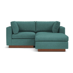 Superieur Apt2B   Taylor Plush 3 Piece Modular Reversible Chaise Sofa, Seafoam    Sectional Sofas
