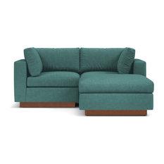 Taylor Plush 3-Piece Modular Reversible Chaise Sofa Seafoam