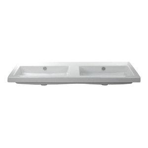Large Rectangular Ceramic Wall Mounted Or Built In Sink