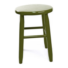 Garland Wood Round Stool 1518 Black Olive