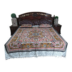 Mogul Interior - 3p Indi Bedspread Ethnic Mandala Bedding Bedcover Bedroom Decor Bedding - Quilts and Quilt Sets