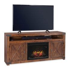 Aspenhome Urban Farmhouse DF1904 72-inch Fireplace Console Fruitwood