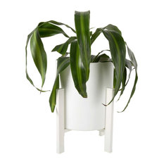 """Planter with Stand, 6x9.5"""", White"""