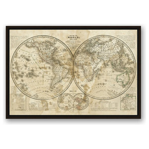 Karte Der Magnetischen Meridiane Und Parallel Kreise 1840 Poster Print By Traditional Prints And Posters By Posterazzi Houzz