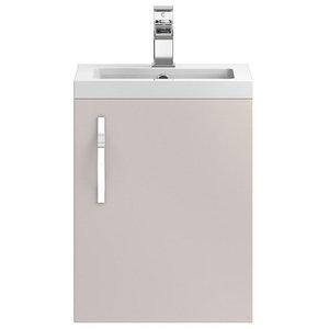 Aubrey Freestanding Bathroom Vanity Unit and Sink, Gloss Cashmere, 40 cm