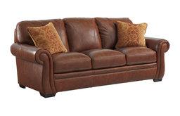 Halston Leather Sofa with 2 pillows