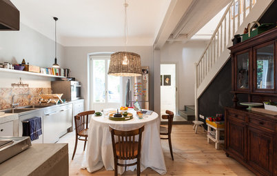 Houzz Tour:  In Northern Italy, Vintage Patina and Industrial Chic