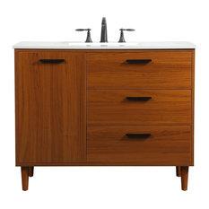 """Bailey 42"""" Bathroom Vanity, Teak"""