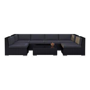 Outstanding Oahu Outdoor Patio Furniture Sofa Sectional 7 Piece Set Machost Co Dining Chair Design Ideas Machostcouk