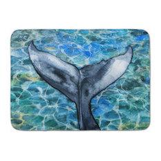 Whale Tail Machine Washable Memory Foam Mat