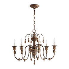 Quorum Lighting (6316-6-39) Salento Transitional Chandelier in Vintage Copper