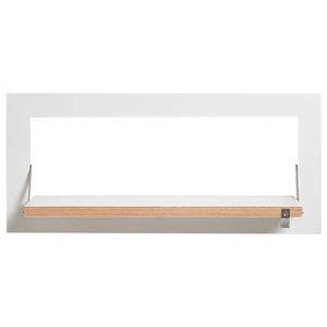 Fläpps Slim and Narrow Birch Plywood Shelf, White