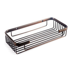 Promessa Rectangular Soap Basket, Oil Rubbed Bronze, Large
