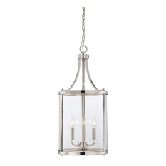 we got lites 3 light pendant clear glass and polished nickel pendant - Clear Glass Pendant Light