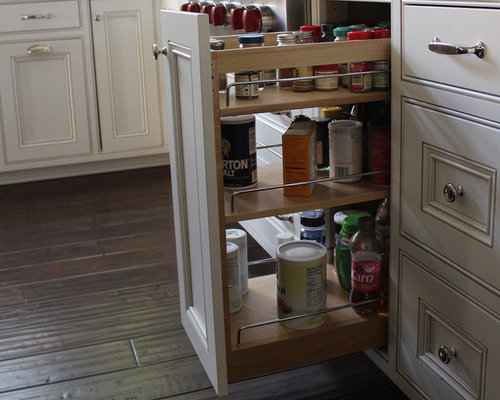 Eclectic-Traditional Whole House Remodel - Spice Jars And Spice Racks