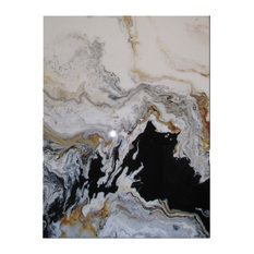 """Eloise World Studio - Modern Contemporary Fine Art """"Tributary"""" Resin Coated Limited Edition 48""""x36"""" E - Paintings"""