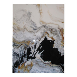"Modern Contemporary Fine Art ""Tributary"" Resin Coated Limited Edition 48""x36"" E"