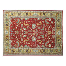 Traditional Rug, Red, 12'x16', Handmade Wool Serapi