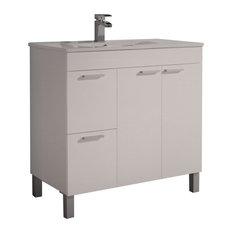 Aktiva 80 Bathroom Vanity Unit, White