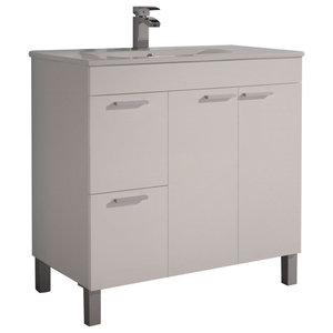Aktiva 80 Bathroom Vanity Unit, White
