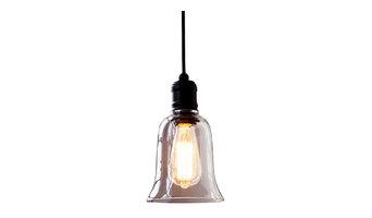 LightingFair Glass Bell Shade Pendant Light