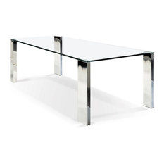 Rectangular Glass Top Dining Table