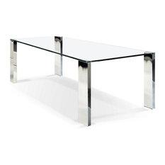 ARTEFAC - Rectangular Glass Top Dining Table - Dining Tables