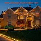 Led Outdoor Christmas Lighting Traditional Exterior