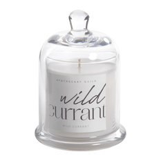 Wild Currant Scented Candle Jar With Glass Dome