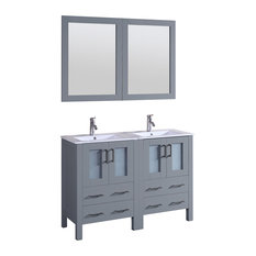 "48"" Bosconi Gray Double Vanity"