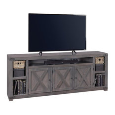Aspenhome Urban Farmhouse DF1032-GRY 84-inch TV Console Smokey Gray